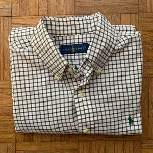 Women's Ralph Lauren Brown & White Check Shirt, SP